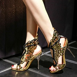 Ericdress Dreaming Golden Wings Stiletto Sandals