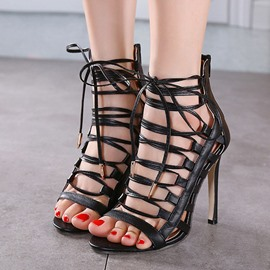 Ericdress European Cut Out Stiletto Sandals
