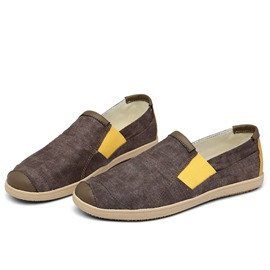 Ericdress Breathable Canvas Patchwork Loafers