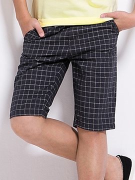 Ericdress Plaid Boys Shorts