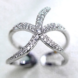 Starfish Zircon Ring