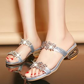 Ericdress European Rhinestone Mules Shoes