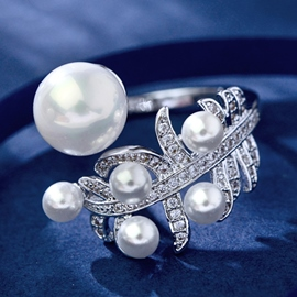 Ericdress Fashion Pearls Decorated Ring