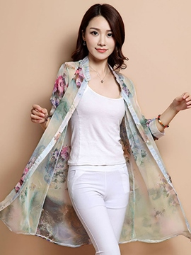 Ericdress Elegant Print Sun Protective Clothing