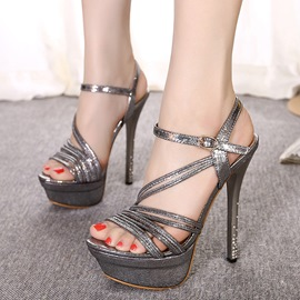 Ericdress Modern Cross Strap Stiletto Sandals