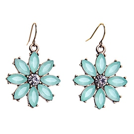 Ericdress Simple Floral Pendant Earrings