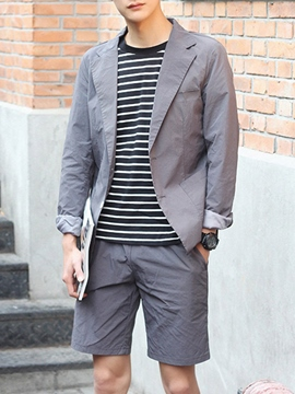 Ericdress Solid Color Half Leg Casual Men's Suit