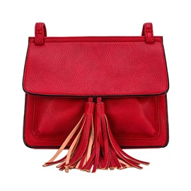 Ericdress Pure Color Tassel Crossbody Bag