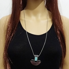 Geometry Turquoise Necklace