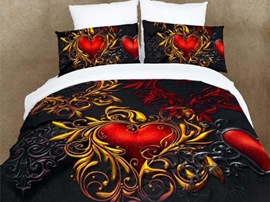 Ericdress Dark Personality Crystal Heart Print 3D Bedding Sets