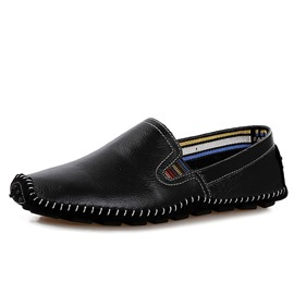 Ericdress Slip-On Round Toe Flat Heel Plain Men's Loafers