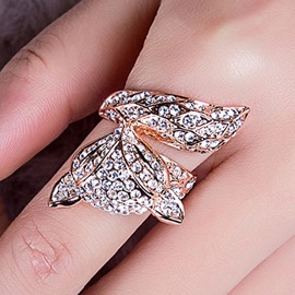 Ericdress Sweet Fox Rhinestones Beading Ring