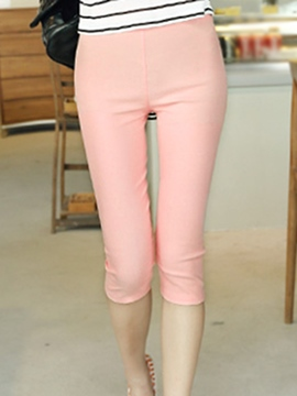 Ericdress Simple Solid Color Leggings Pants