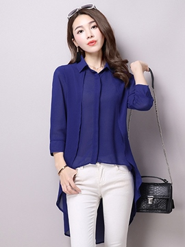 Ericdress Solid Color Loose Blouse