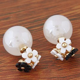 Temperament of Flower Ball Stud Earrings