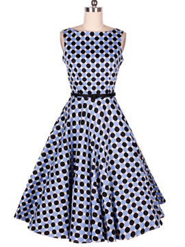 Ericdress Polka Dots Vintage Casual Dress