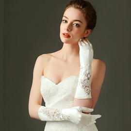 Ericdress Beautiful Long Satin Wedding Gloves