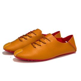Ericdress Round Toe Lace up Flat Heel Men's Casual Shoes