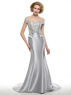 Ericdress Fancy Off The Shoulder Mermaid Long Mother Of The Bride Dress