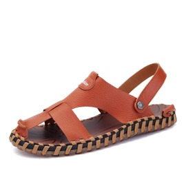 Ericdress Round Toe Cut Out Slingback Strap Men's Sandals