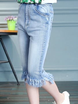 Ericdress Denim Tassel Girls Pants