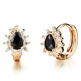 Golden Zircon Earrings