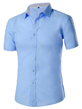 Ericdress Simple Plain Short Sleeve Men's Shirt