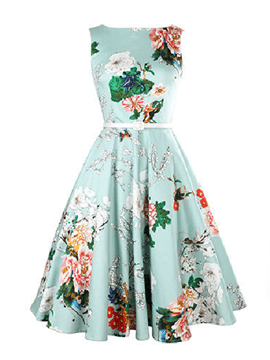 Ericdress Vintage Expansion Sleeveness Floral Casual Dress
