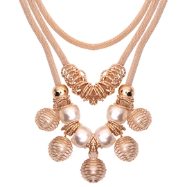 Ericdress Pearl Inlaid Ball Pendant Necklace