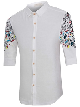 Ericdress China Style Print Vogue Men's Shirt
