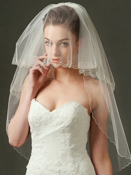 Ericdress Beautiful Beaded Wedding Veil