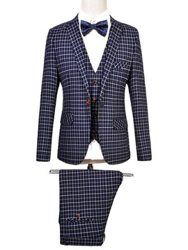 Ericdress Plus Size Plaid Vogue Three-Piece of Men's Suit