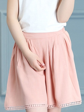 Ericdress Plain Girls Wide Legs Shorts