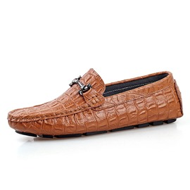 Ericdress Solid Color Croco Men's Casual Shoes