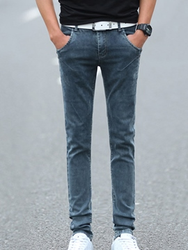 Ericdress Straight Pocket Slim Men's Denim Pants