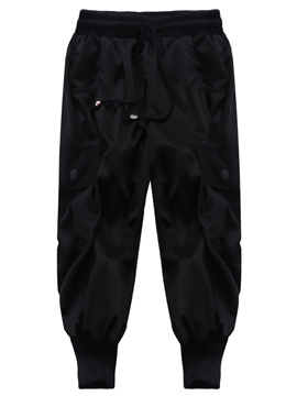 Ericdress Black Loose Casual Men's Pants