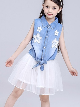 Ericdress Sleeveless Girls Outfit