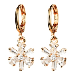 Zircon Crystal Pendant Earrings