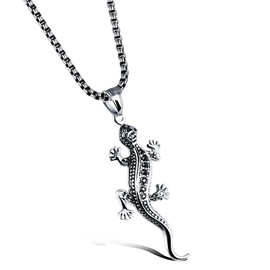 Ericdress Stereotype Gecko Pendant Men's Necklace