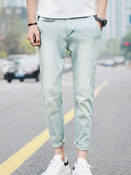 Ericdress Casual Denim Men's Pencil Pants
