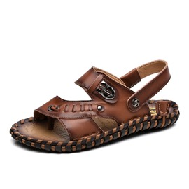Ericdress PU Thread Slingback Men's Beach Sandals