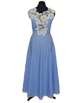 Ericdress Lace Patchwork Sleeveless Maxi Dress