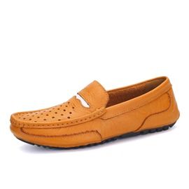 Ericdress Hollow Square Toe Cut Out Men's Loafers