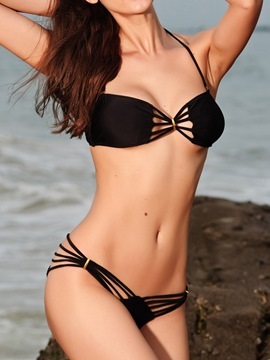 Ericdress Black Bikini Set Swimsuit