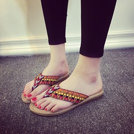 Ericdress Ethnic Thong Mules Shoes