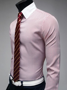 Ericdress Stripe Formal Business Slim Men's Shirt