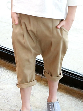 Ericdress Plain Boys Harem Pants