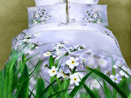 Ericdress Morning Dew-Covered Wildflower Print 3D Bedding Sets