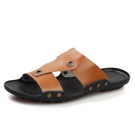 Ericdress Open Door PU Slip-On Men's Beach Sandals