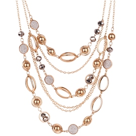 Ericdress Multi-Layer Metal Bead Necklace